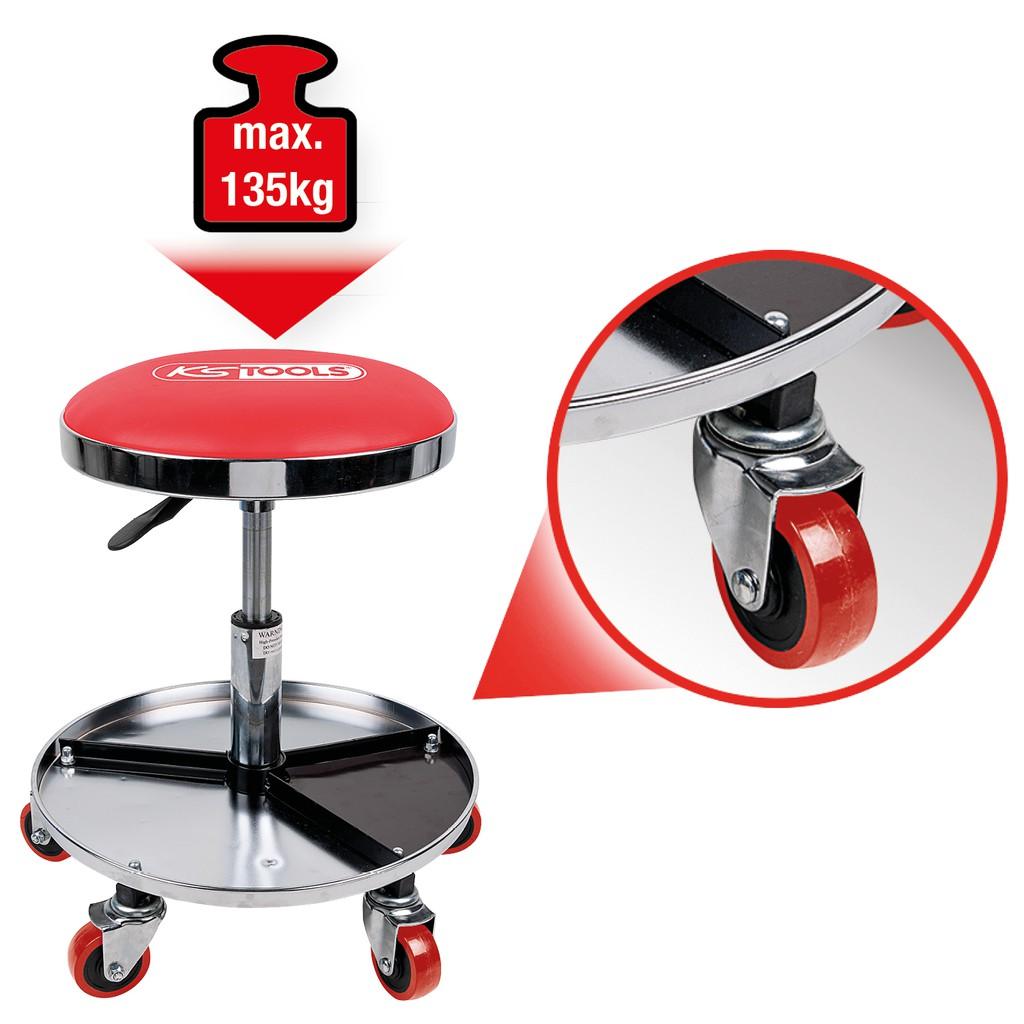 swivel stool adjustable height loadable up to 135kg creepers rh kstools com