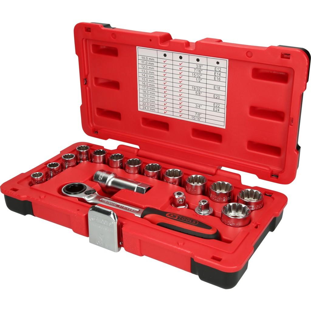 KS Tools 919.3850 3//8 CHROMEplus Power-Kugelgelenk