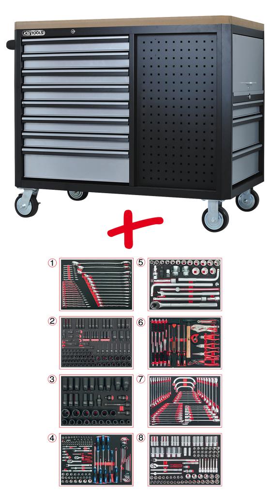 stabiler werkzeugwagen f r die nutzfahrzeug werkstatt. Black Bedroom Furniture Sets. Home Design Ideas