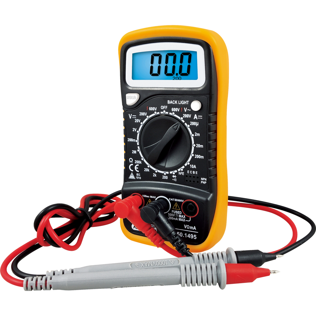 Digital Multimeter Incl Test Probes Voltage Testers Vde Car Circuit Tester Light Continuity Systems Probe Clip Insulated Safety Tools And Various For Electrician Hand Catalogue Industry
