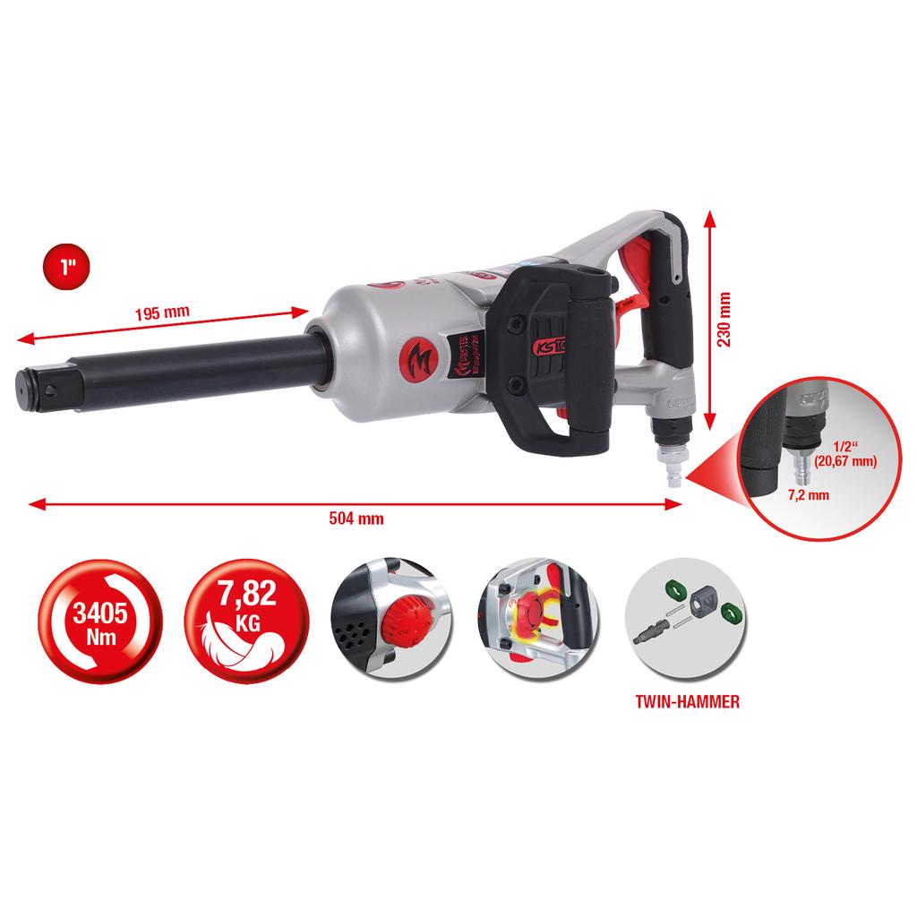KS Tools 150.9384 2-Arm Universal-Tankgeberschl/üssel /Ø 80-120mm