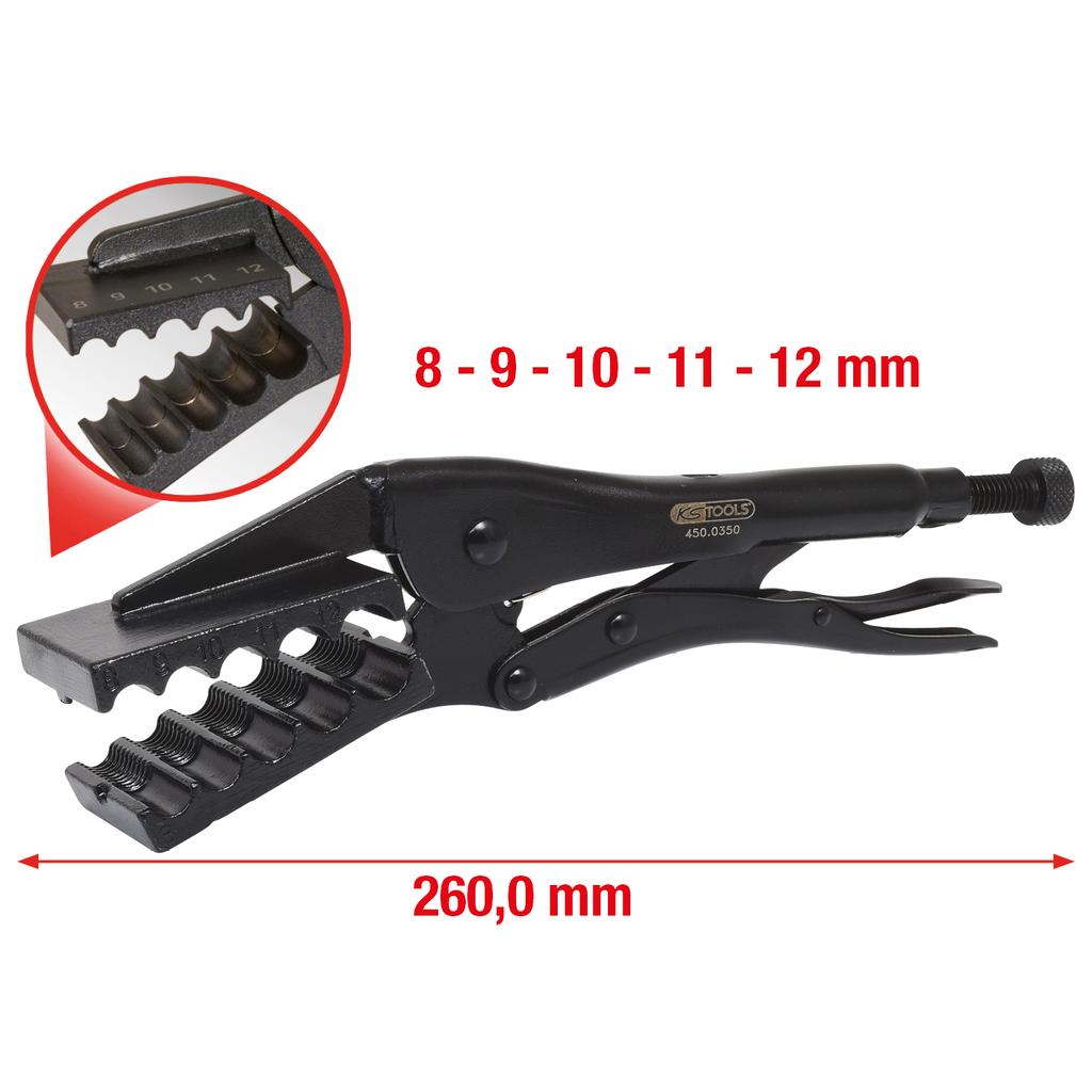 Ks/_Tools Spezial-Klemm-Gripzange Ø 7-14mm 450.0351 450.0351
