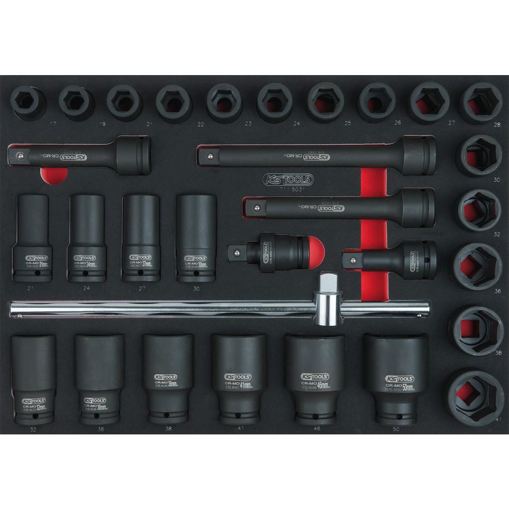 23 mm Ks Tools 515.1423 Douille Longue /à Chocs 6 Pans 3//4