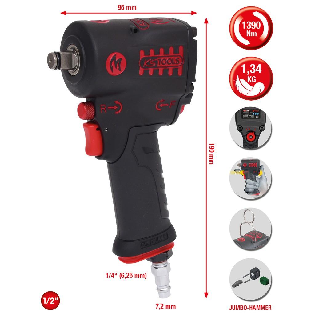 tama/ño: 85 mm, 1 KS Tools 515.1785 Vaso de Impacto Hexagonal 85mm Corto