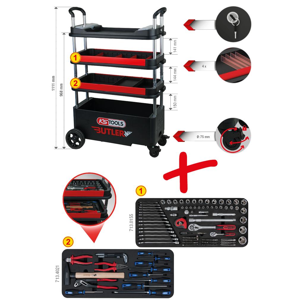 250mm KS Tools 150.1140 m/áx Compresor de muelles de v/álvula